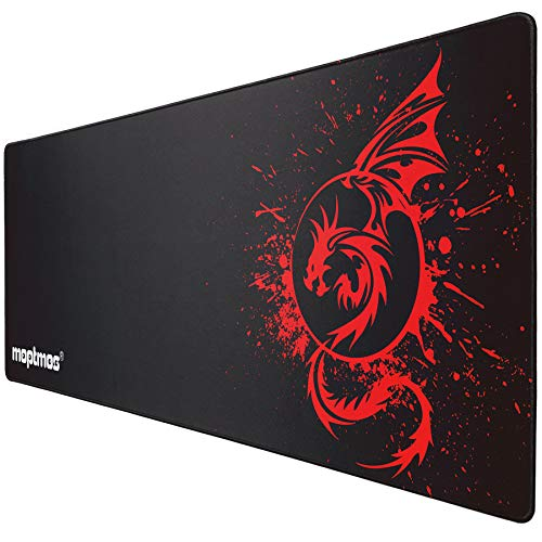 Large Mouse Pad Extended Speed Gaming Mouse Pad Fly Dragon Mouse Pad Gamer Office Computer Mouse Mat (A-Red)