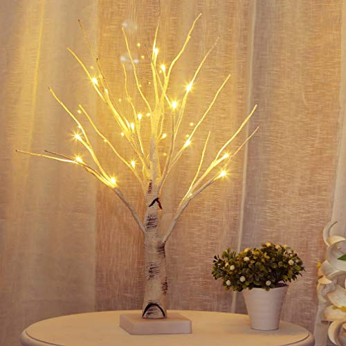 Birch Twig Tree Lights Photo Display Tree with 24 Warm White LEDs Decorative For Hang Ornaments Christmas Unique Design Decorative Tree