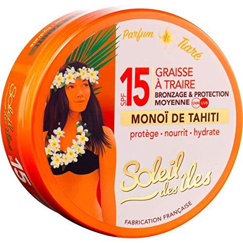 Soleil des îles - Graisse à traire au monoï de Tahiti SPF 15 - 150 ml
