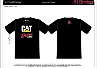 Nascar Jeff Burton 31 Cat Racing Black T-Shirt
