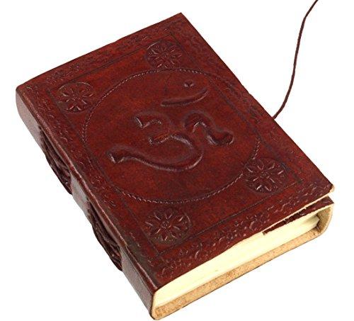 Guru-Shop Notizbuch, Lederbuch, Tagebuch mit Ledereinband - Om 9x12 cm, Braun, Notizbücher & Tagebücher