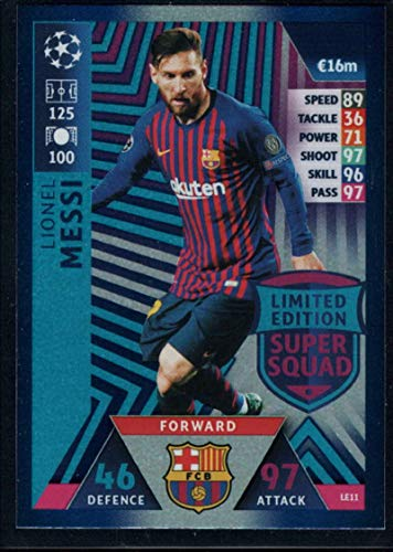 Soccer Pro 2018-19 Topps UEFA Champions League Match Attax Limited Edition Super Squad #LE11 Lionel Messi