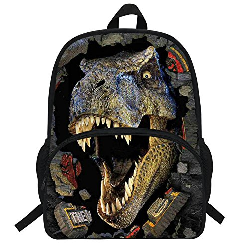 VEEWOW 16 inch Cool Animal Backpack For Boys Dinosaurs Schoolbag Spirit Riding Free jurassic preschool girls(D946)