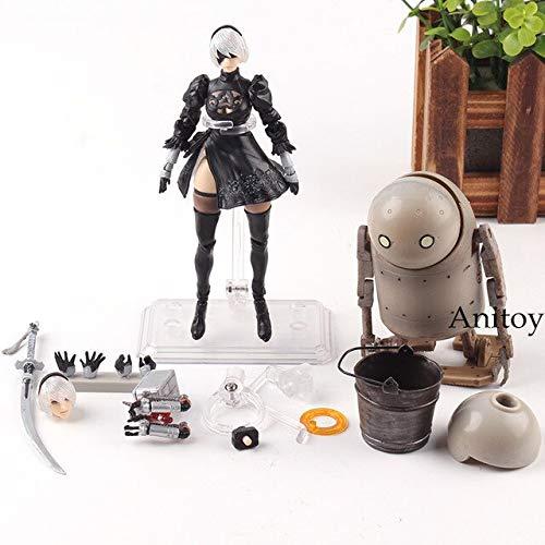 Yvonnezhang Nier Automata 2B Figura Año No. 2 Tipo B y Forma de Vida de la Máquina BRAZAS DE Arte Figura de acción de 6 Pulgadas Modelo de colección de PVC Juguetes Calientes, en Bolsa