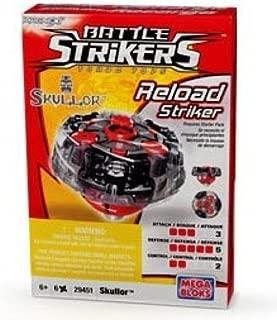 Mega Bloks Battle Strikers Rare Turbo Tops Reload Striker Skullor Boost Magnext