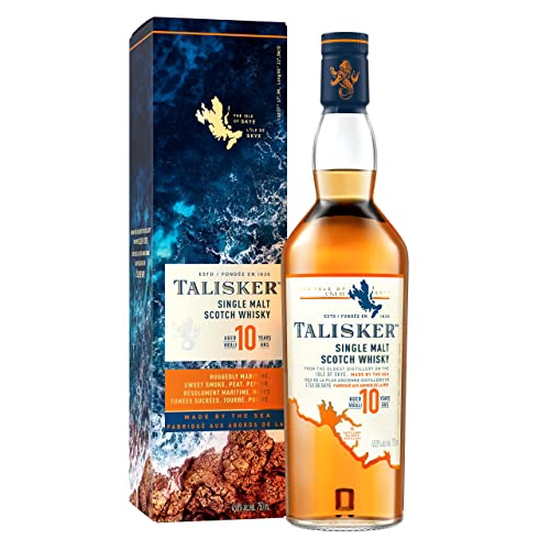 Talisker 10 Anni Single Malt Scotch Whisky, Astucciato, 70 cl