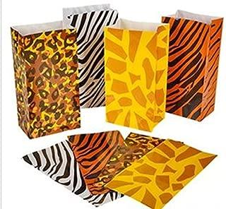 happy deals Wild Zoo Safari Animal Print Gift and Goody Bags - 36 pc
