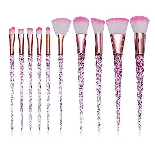 GUOJIAYI 8pcs Metal Makeup Brush Makeup Face Foundation Eyeshadow Blush Makeup Brush Set
