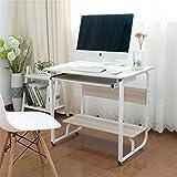 Estudio de la estación de trabajo Ordenador de la tabla del escritorio de la carretilla retráctil Con teclado estante del escritorio del ordenador Oficina en casa ( Color : Beige , Size : 80*52*73cm )