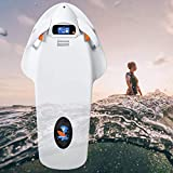 SOMUNS Adult Underwater Sea Scooter, Electric Surfboard with 12AH 3200W 36V Battery LCD Display 2 Modes Propeller Diving Equipment Suitable for Swimming(White)