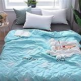 Fansu Tagesdecke Bettüberwurf Steppdecke Mikrofaser Doppelbett Einselbetten Gesteppt Bettwäsche Sofaüberwurf Wohndecke Bettdecke Stepp Gesteppter Quilt (Hellblau,200x230cm)