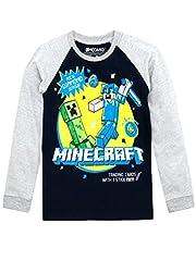 Minecraft Camiseta Manga Larga para Niños