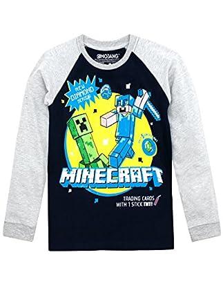 Minecraft - Camiseta de Mangas largas para niño 4-5 Años