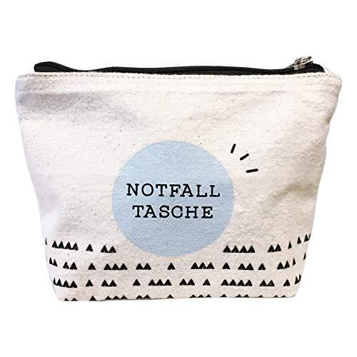 Odernichtoderdoch Notfalltasche | Baumwolle | Mit Reißverschluss - 13 x 12,5 x 6 cm