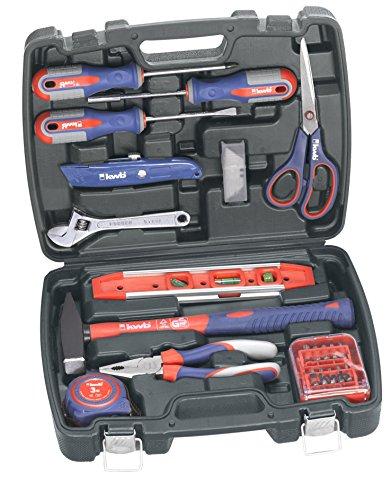 KWB gereedschapskoffer incl. gereedschapsset, 40-delig, gevuld, robuust en hoogwaardig, ideaal voor het huishouden of de garage, in praktische kunststof koffer