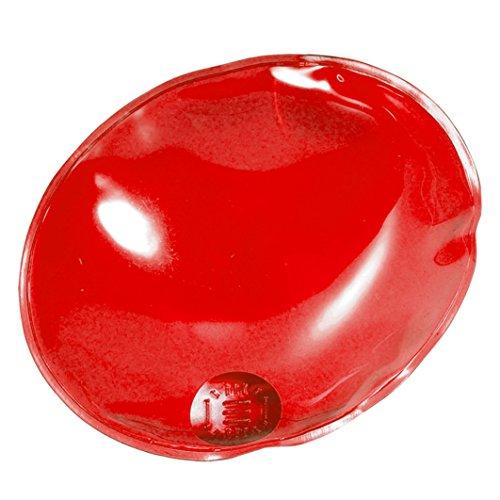 eBuyGB 1209125 Calentador de Manos de Gel Reutilizable, Hombre, Óvalo Rojo, Talla única