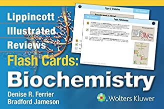 Lippincott Illustrated Reviews Flash Cards: Biochemistry (Lippincott Illustrated Reviews Series) by Ferrier PhD, Denise R., Jameson, Bradford (August 6, 2014) Cards