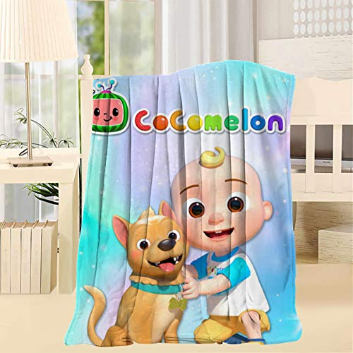 Jo_jo Co_comelon Nursery Dog Luxury Blanket Twin Throw Size Warm Home Decorative for Bed Sofa Chair
