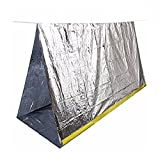 Emergency Shelter Tube Tents, ECVILA Survival Blankets, Sleeping Bag | Perfect for Outdoor Safety & Survival Gear (Silver Mylar)