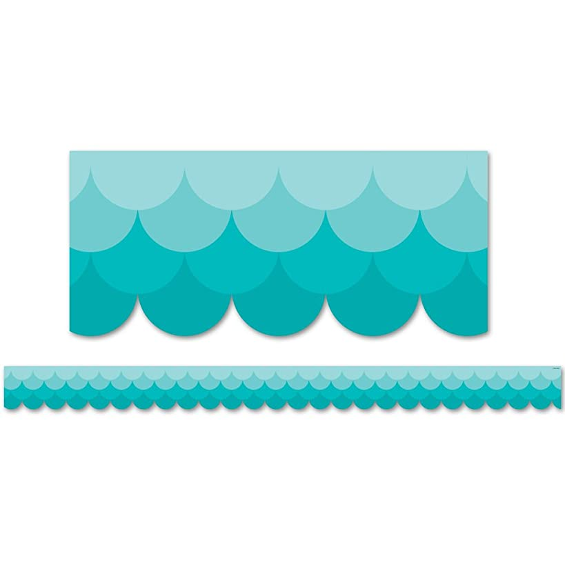 Creative Teaching Press Ombre Turquoise Scallops Borders (0182)