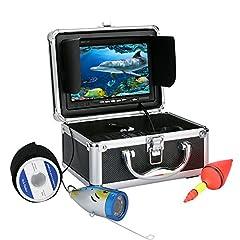 "GAMWATER 7"" Inch 1000tvl Underwater Fishing Video Camera Kit 12 PCS LED Infrared Lamp Lights Video Fish Finder Lake Under Water Fish cam"