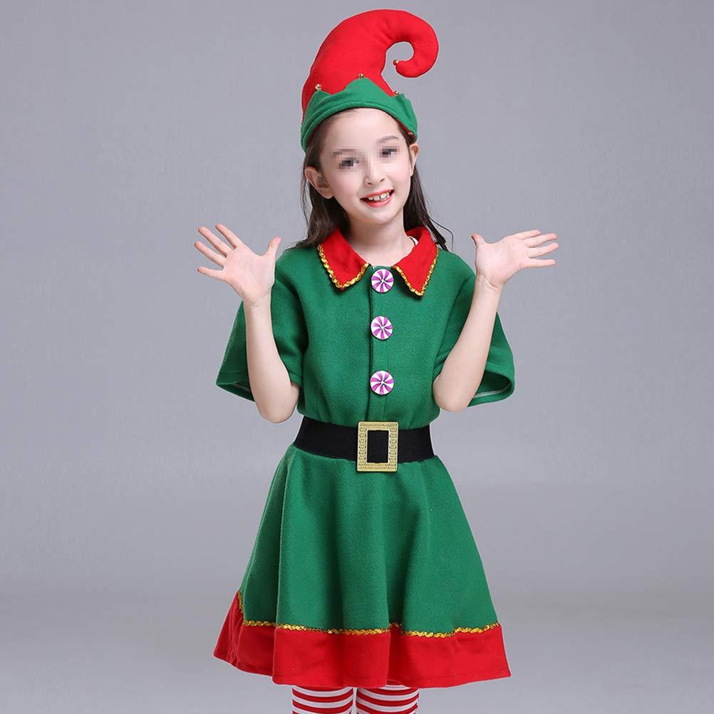 BESTOYARD - Disfraz de Navidad para niña, diseño de Elfo Festivo ...
