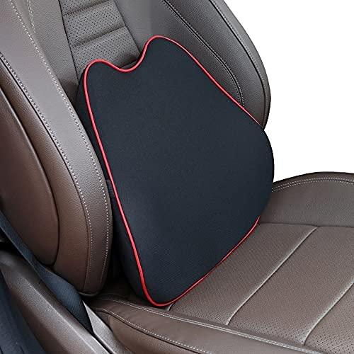 Bekväm Car Neck Pillow Lumbar Support Auto Fit för SE-AT Head Support Bil Passform för SE-AT Neadrest Pillow för kontorsstol Kudde för bil Auto (Färg: Svart Röd) (Color : Cushion Black Red)