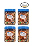 PACK OF 4 - Great Value Caramel Cashew Trail Mix, 36 Oz