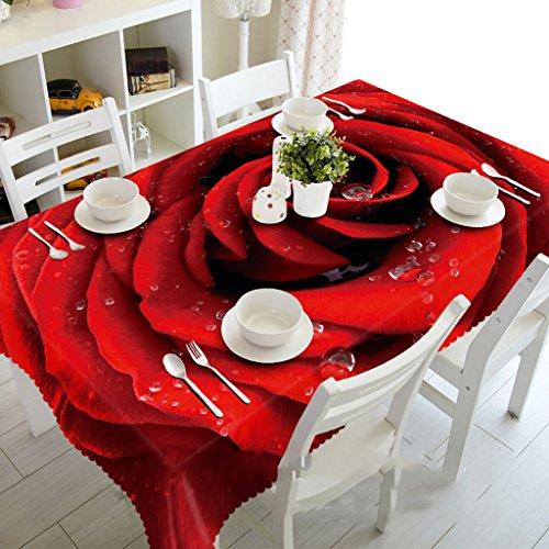 Nappes Grand tapis de rectangle de feuille de feuille de feuille de rosée de Rose de rosée - favorable à l'environnement et inodore - impression numérique imperméable à l'eau (taille : Round 274cm)
