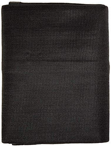 Windscreensupplyco Heavy Duty Black Knitted Mesh Tarp with Grommets 60-70% Shade (10 FT. X 12 FT.)