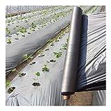 Dimo 1 unids 50m 0.012mm Orchard Fruit Tree Silver-Negro Película de plástico, jardín Invernadero Reflective Weed Control Plateado Black Mulch Film