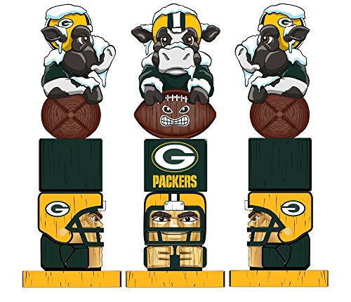 Team Sports America NFL Tiki Totems (16 Inches, Green Bay Packers)