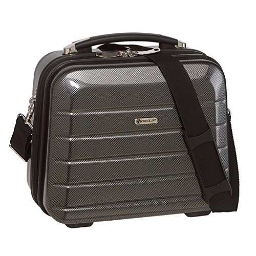 Beauty Case schwarz Carbon mit Boarding size aus Polycarbonat und ABS Materialmix 1300 Gramm aufsteckbar auf Trolleysystem