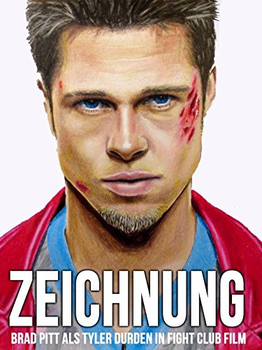 Clip: Zeichnung Brad Pitt als Tyler Durden in Fight Club Film