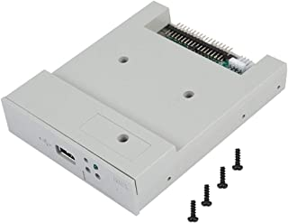 Wendry USB Floppy Emulator Built-in Memory 3.5in 1.44MB USB SSD Floppy Drive Emulator Plug and Play 34-pin Floppy Disk Drive Interface, 5V DC Power Supply