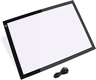 A3 LED Light Box, Ultra-Thin Art Stencil Board Drawing Boards with USB Cable for Artists Drawing Sketching Animation