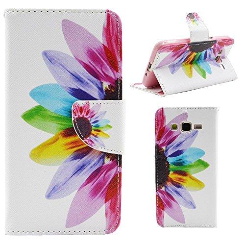 HUANGTAOLI Custodia in Pelle Portafoglio Flip Case Cover per Samsung Galaxy Grand Prime Value Edition G531F/DUOS G531H