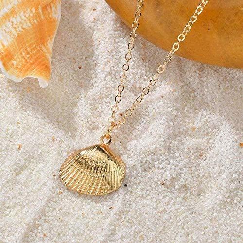 NONGYEYH co.,ltd Collar, Collar de Concha, Collar con Colgante de Concha de Playa de mar para Mujer, joyería Bohemia de Verano