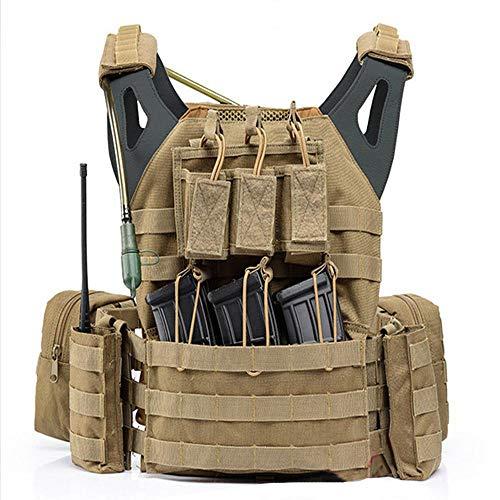 Home Arts JPC Leichtbau-Modul Kampfweste Molle System Tactical Vest Militär Fans Wasserdicht Atmungsverschleißfest CS Multifunktionsfeldjacke Mud Color