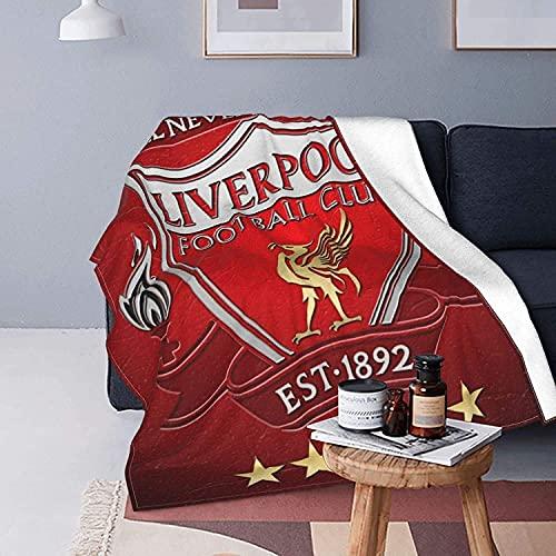 Liverpool Football Club - Manta de microfibra suave y duradera, para cama, sofá, oficina, sala de estar, decoración del hogar, adultos y niños en todas las estaciones