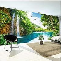 Xbwy 装飾壁画壁紙現代の自然風景滝壁の壁画リビングルーム研究家の装飾-200X140Cm