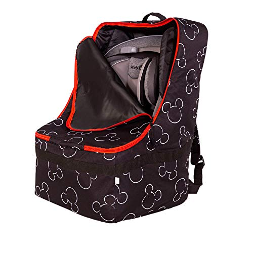 Disney Baby by J.L. Childress Ultimate Backpack Padded Car Seat Travel Bag, Black
