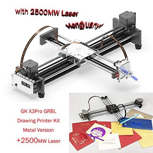 GKDraw X3 DIY Corexy XY GRBL Plotter Zeichenmaschine Kit Beschriftungsroboter Perfekte Kunst CNC Schreibroboter Spielzeug Lasermodul (Standard)