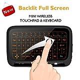 Mini Tastiera Wi-fi Retroilluminata con Tavoletta Mouse, 2.4 GHz Senza Fili Pannello Intero Grande Superficie di Tocco Mini Touchpad per TV smart, Android/Google TV Box, PC, Pad, PS3, Xbox 360, ecc.