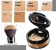 Avon Calming Effect Loose Powder Mineral MEDIUM BEIGE Foundation and kabuki brush