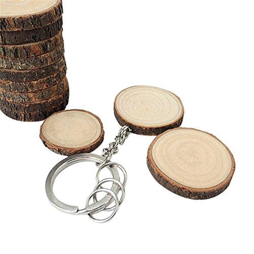 Oyfel Metal llavero Astillas madera DIY