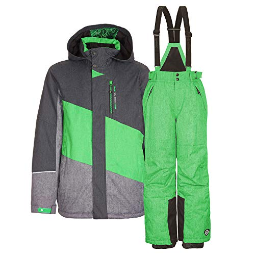 Killtec Kinderskianzug Skijacke Tamer Jr.+ Skihose Gauror Jr. - Gr. 128-176 - Farbwahl (grün, 140)
