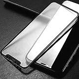 Completa Pegamento de Cristal Templado de la Película para el iPhone 2pcs 11 Protector de Pantalla 0.33mm 9H 2.5D (Negro) (Color : Black)