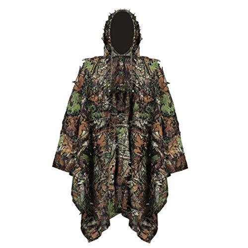 Hiinice Ghillie Suit Stealth Sniper Set 3D-Camouflage Cape Umhang Dschungel Für Outdoor Weihnachtsdekoration Komfortable Versorgung