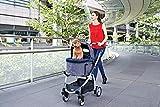 "InnoPet Hundebuggy ""Cleo"" mit abnehmbarer Tasche Hundewagen Hundetasche Transporttasche PetStroller klappbar Autositz abnehmbares Verdeck - 7"